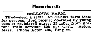 Bellows Farm Ad