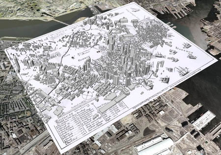 Boston 1722 on Google Earth