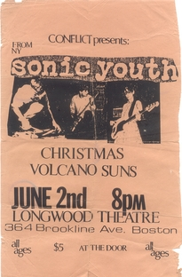 Sonic Youth Flier